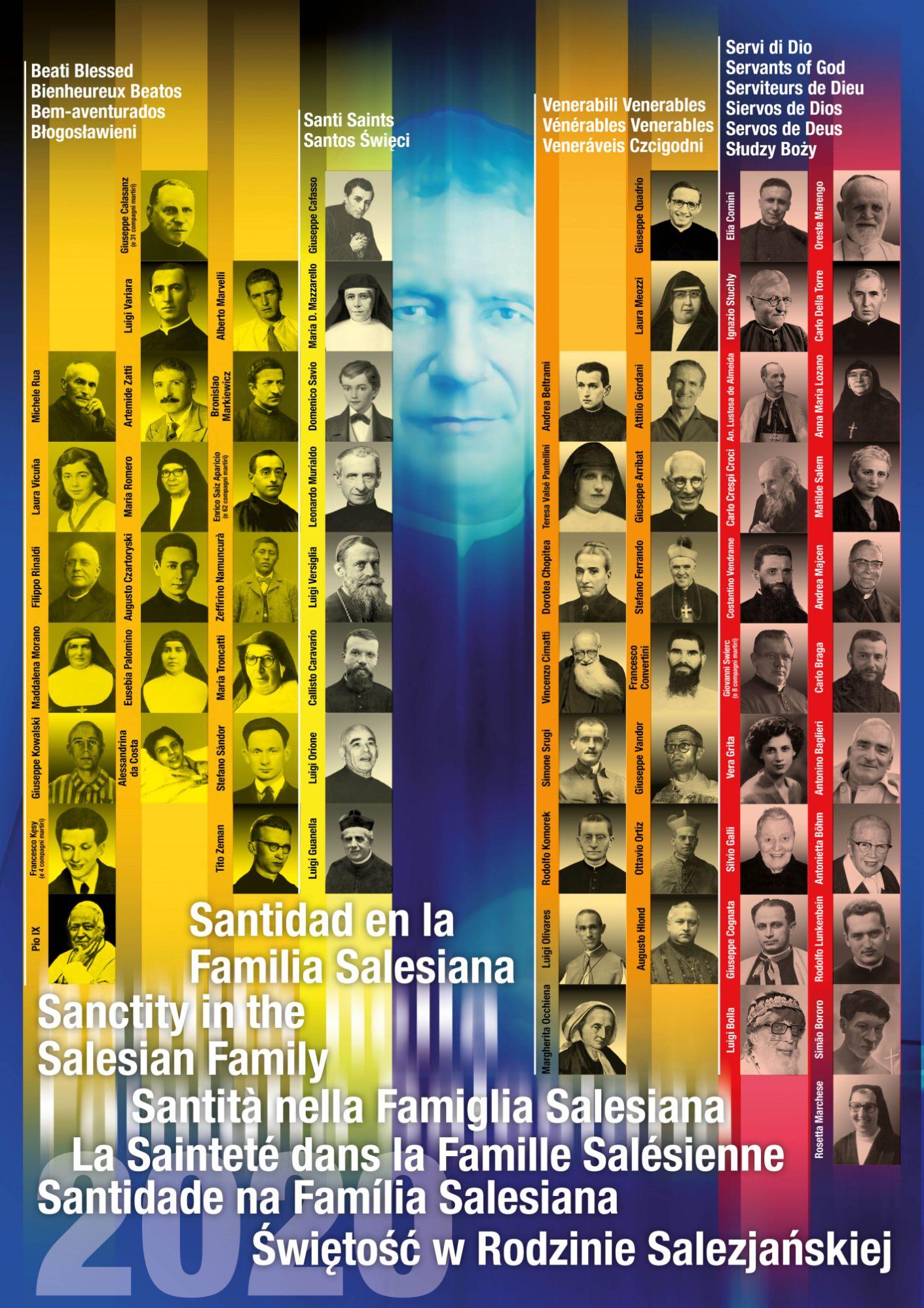Il Poster della Santità della Famiglia Salesiana 2020